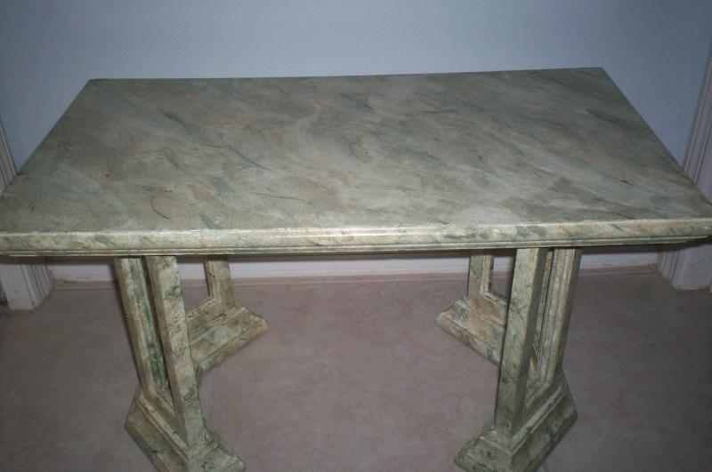 Good altar - an empty marble table altar inviting new magic!