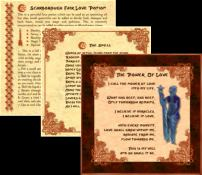 Book of love spells - sample pages
