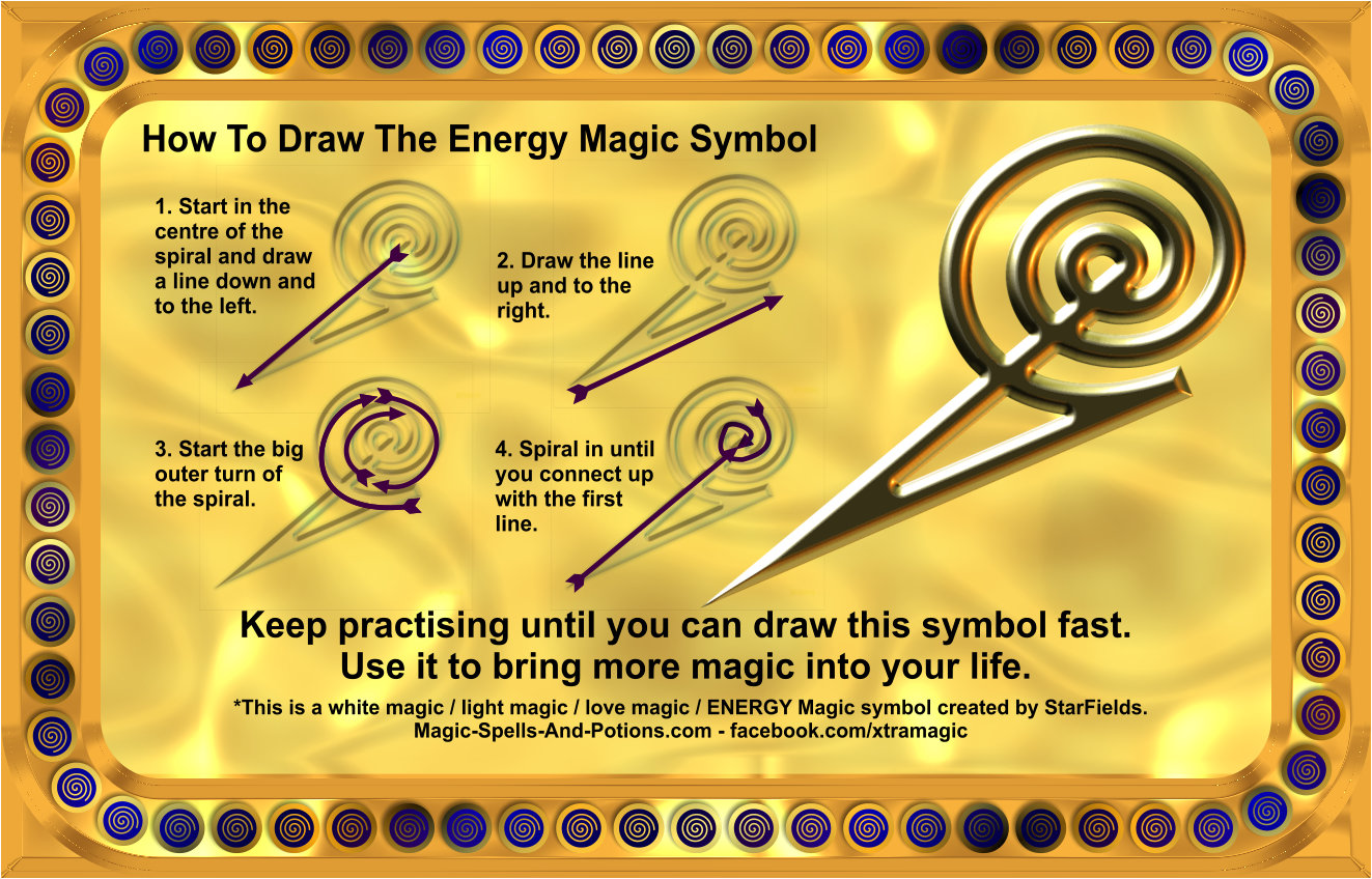 How to draw magic symbol instructions and diagram