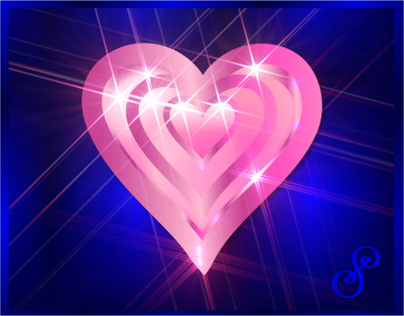 Magic Heart Symbol Pink