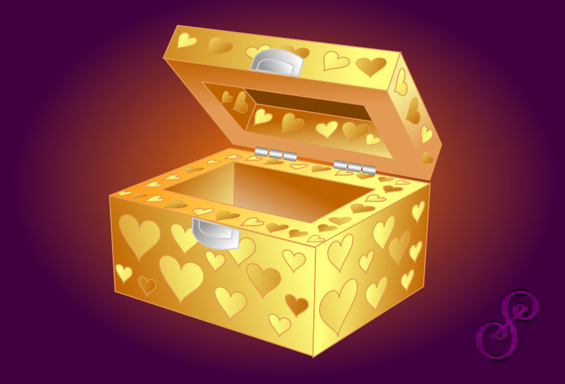 Magic Box with Heart Symbols For Love