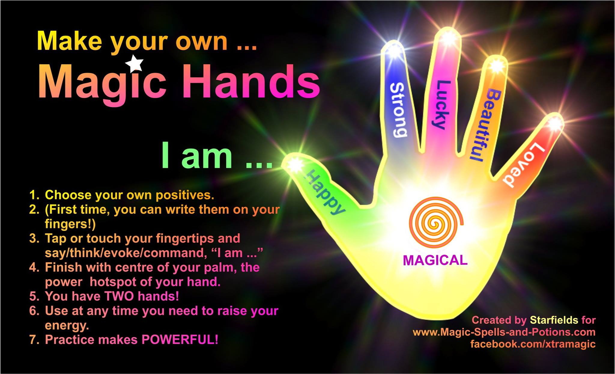 Make your own Magic hands - hands and fingers with instructions