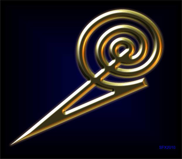Arrow and Spiral Energy Magic Symbol