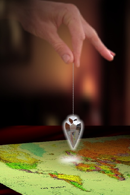 Pendulum spell using a map of the world