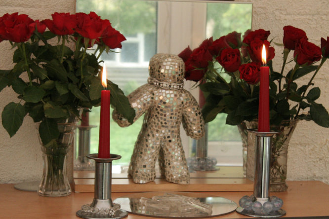 Red Roses on my magic altar