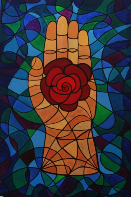 Rose Hand Magic Painting