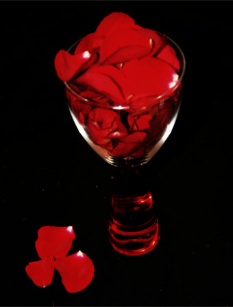 Magic Rose Petals In A Glass