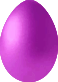 Small Magic Egg in purple